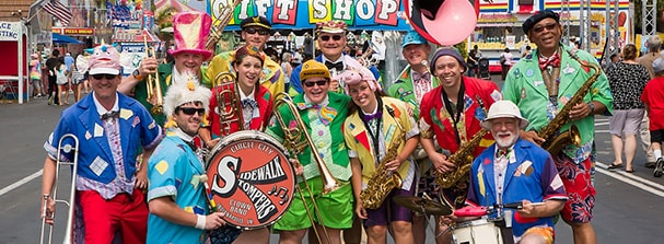 The Circle City Stompers Clown Band.